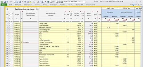 Einnahmenuberschussrechnung Anlage Eur Vorlage Excel